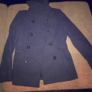 Blue winter coat